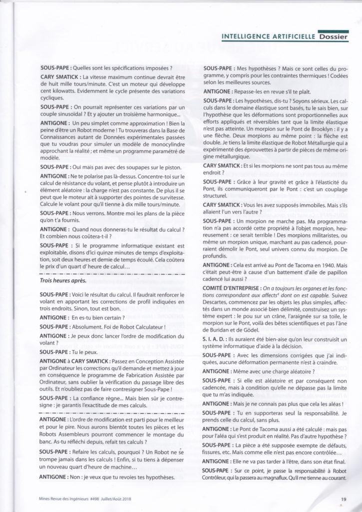 Revue des Ingénieurs de Mines n° 498 de juillet-aout 2018